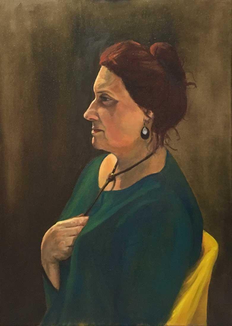 Clelia Peinture à l'huile sur Toile 50cm x 70cm 2018