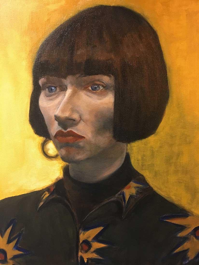 Maggie Peinture à l'huile sur Carton entoilé 50,8 cm x 40,6 cm 2018