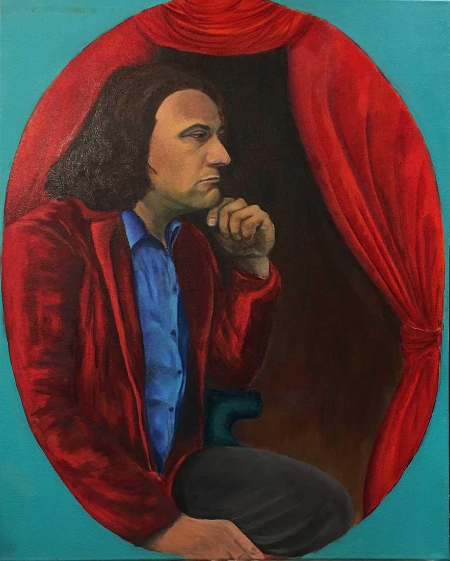 Marcus Ovale Peinture à l'huile sur Toile 61cm x 76cm 2018