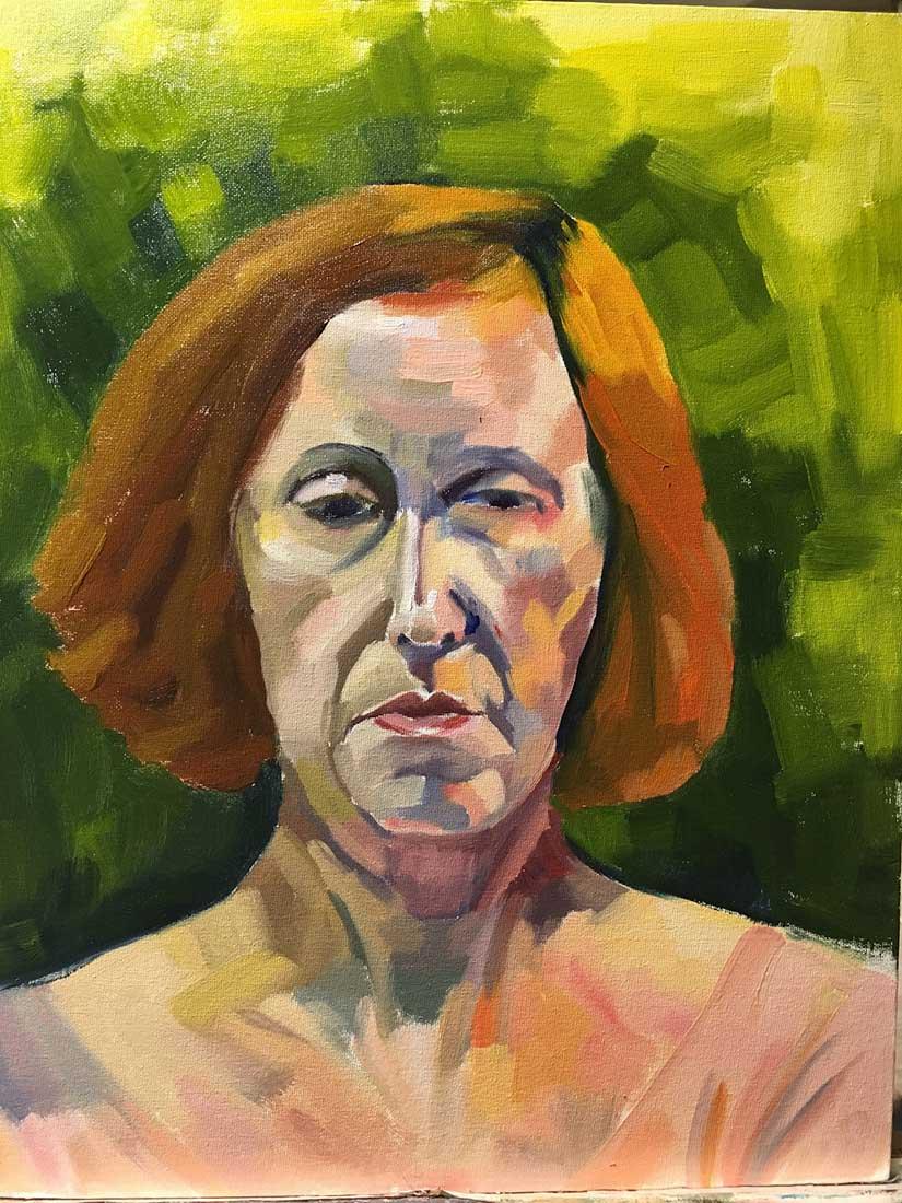 Wallie Peinture à l'huile sur Carton entoilé 45,7 cm x 35,6 cm 2018