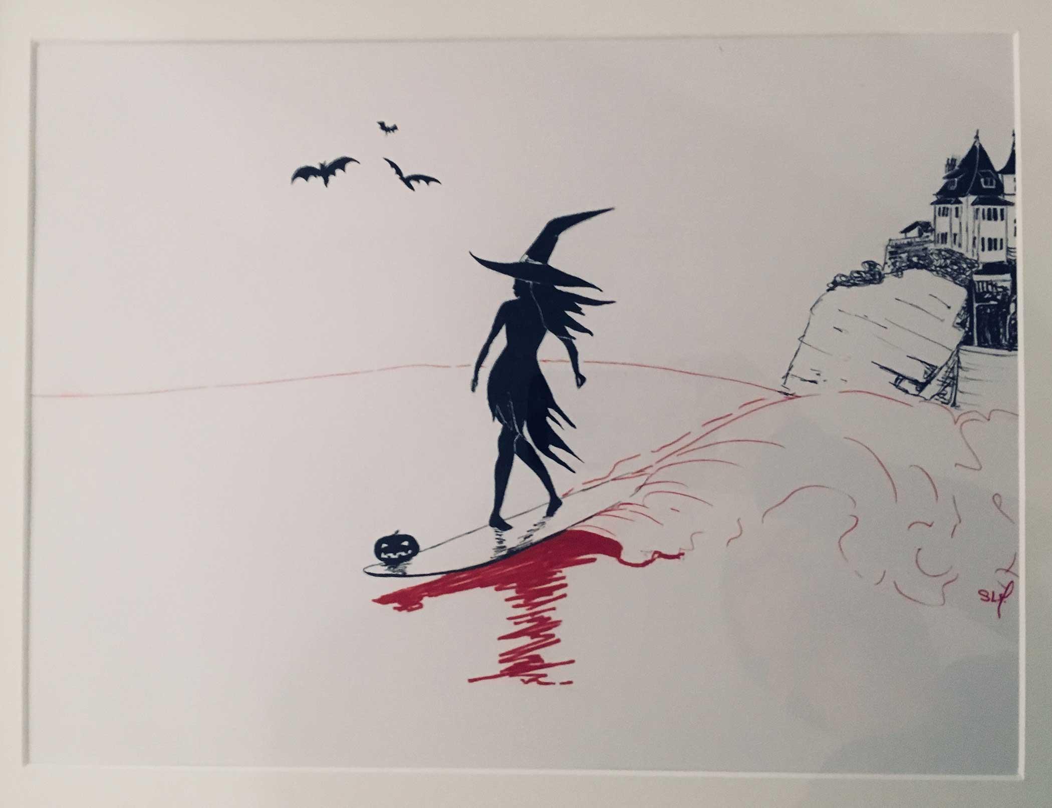 The Witch Encre sur papier A3 (29,7cm x 42cm) 2017