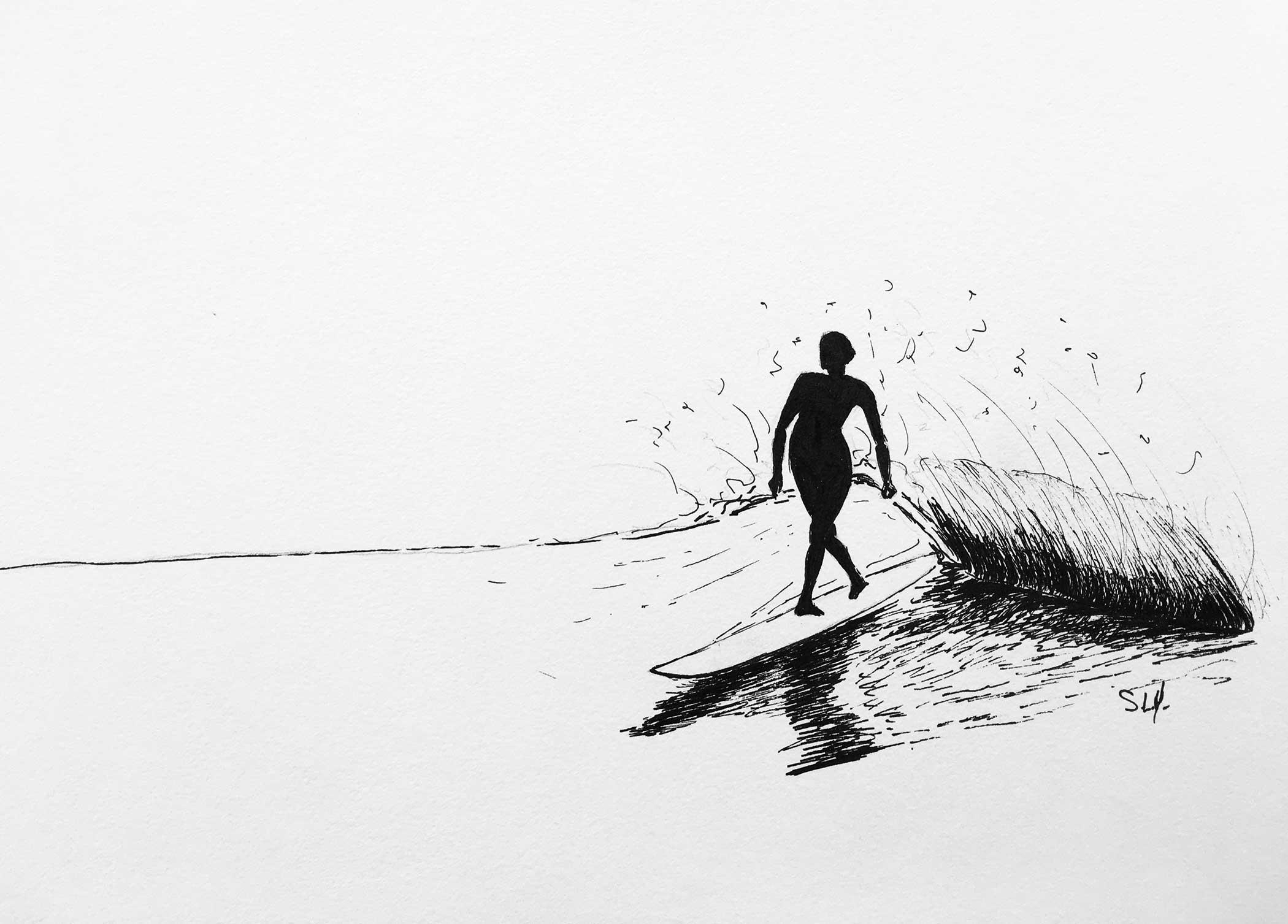 Black Cross Encre sur papier A4 (24cm x 29,7cm) 2017