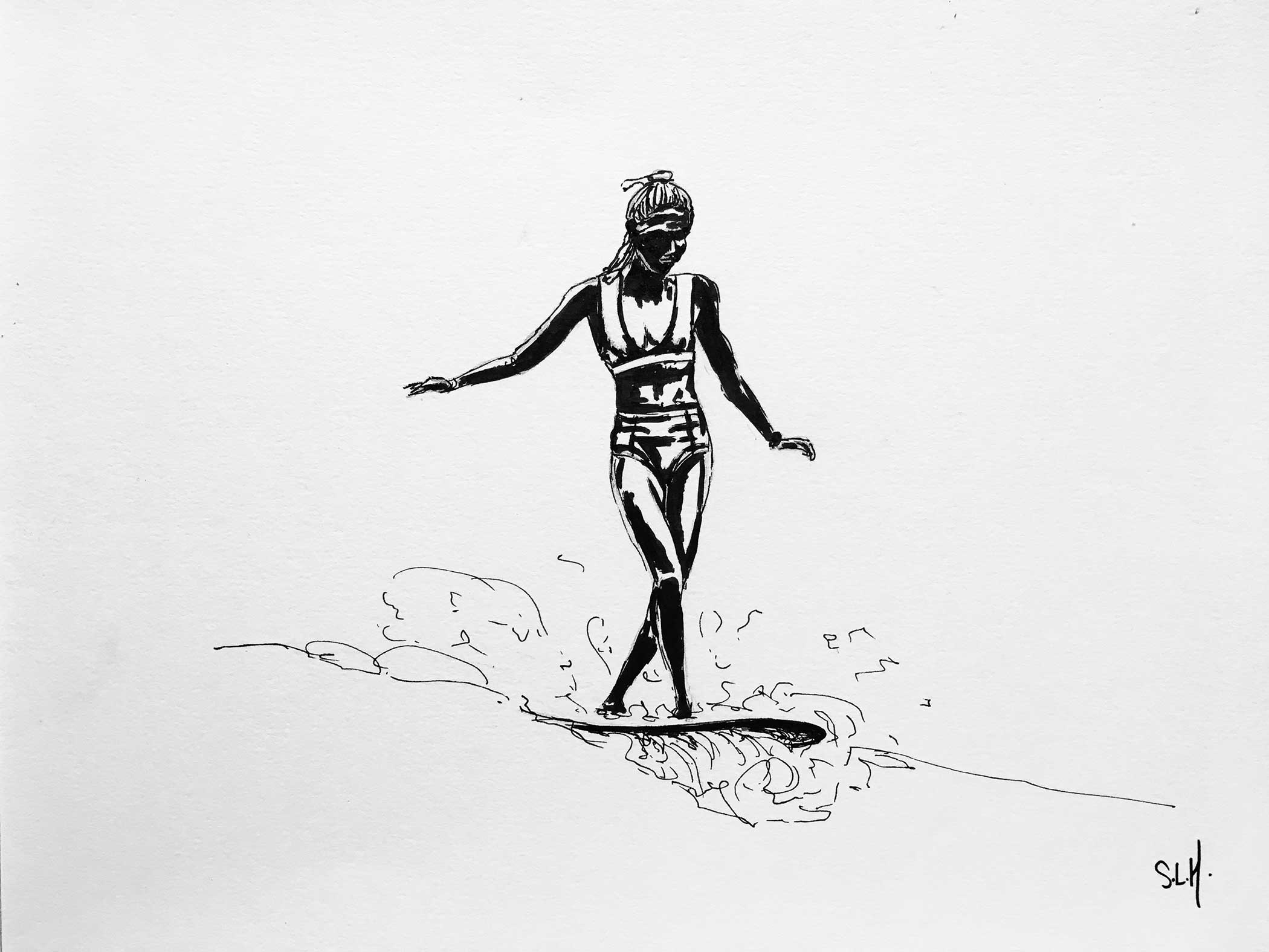 Délicate Encre sur papier A4 (24cm x 29,7cm) 2017