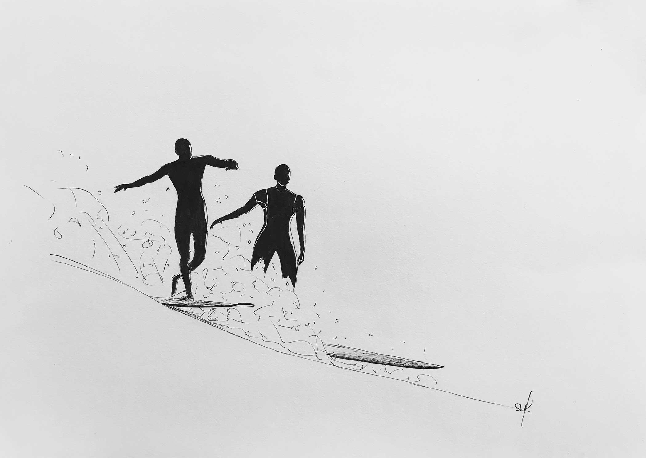 Love Encre sur papier A3 (29,7cm x 42cm) 2018